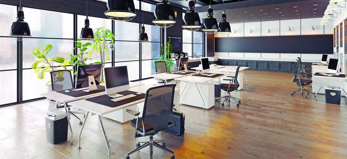Modern office space image